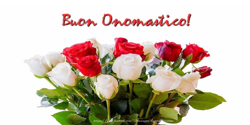 Buon Onomastico! - Cartoline onomastico con rose