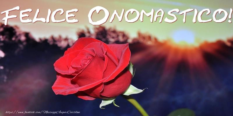 Felice Onomastico! - Cartoline onomastico con rose
