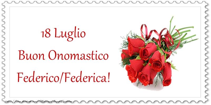 Buon Onomastico - Cartoline onomastico con rose