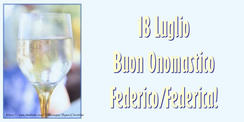 Buon Onomastico - Cartoline onomastico con champagne