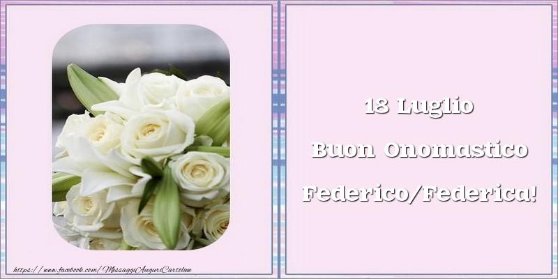 Buon Onomastico - Cartoline onomastico con fiori