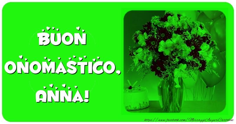 Buon onomastico, Anna! - Cartoline onomastico con fiori
