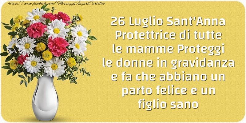 26 Luglio Sant'Anna Protettrice di tutte le mamme - Cartoline onomastico