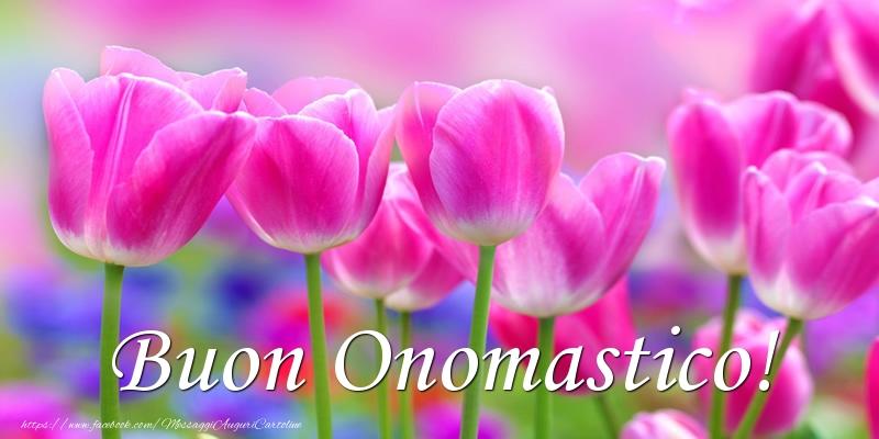 Buon Onomastico! - Cartoline onomastico con fiori