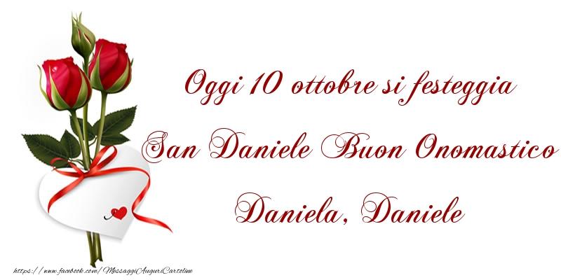 Buon Onomastico Daniela, Daniele - Cartoline onomastico