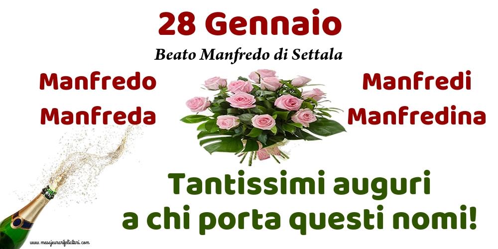 28 Gennaio - Beato Manfredo di Settala - Cartoline onomastico