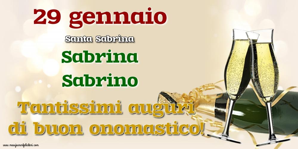 29 gennaio - Santa Sabrina - Cartoline onomastico