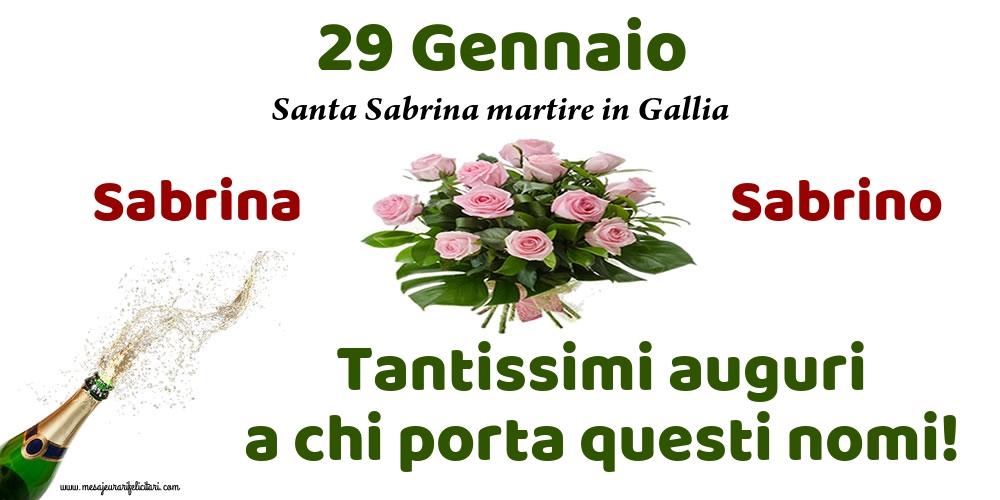 29 Gennaio - Santa Sabrina martire in Gallia - Cartoline onomastico