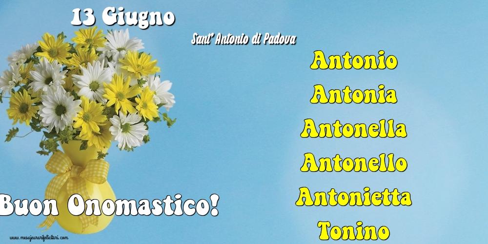 13 Giugno - Sant' Antonio di Padova - Cartoline onomastico