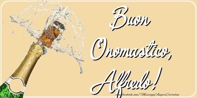Buon Onomastico, Alfredo - Cartoline onomastico