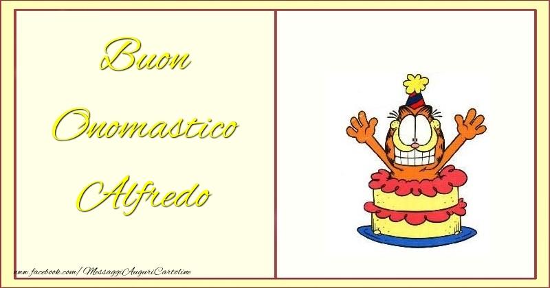 Buon Onomastico Alfredo - Cartoline onomastico