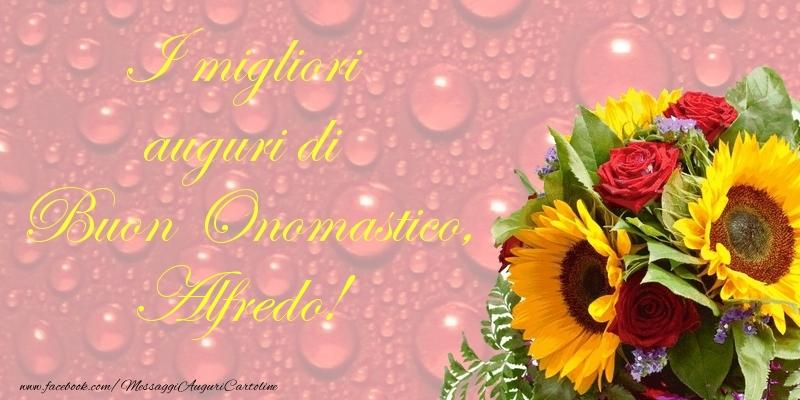 I migliori auguri di Buon Onomastico, Alfredo - Cartoline onomastico
