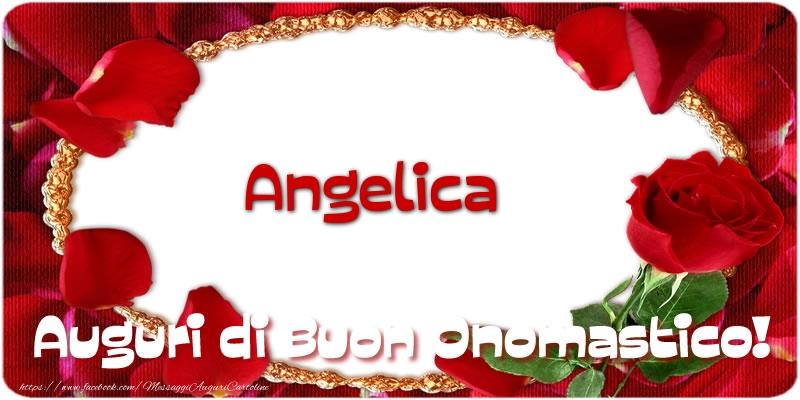 Angelica Auguri di Buon Onomastico! - Cartoline onomastico