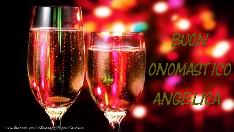 Buon Onomastico Angelica - Cartoline onomastico