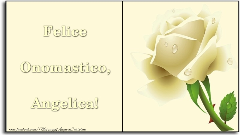 Felice Onomastico, Angelica - Cartoline onomastico