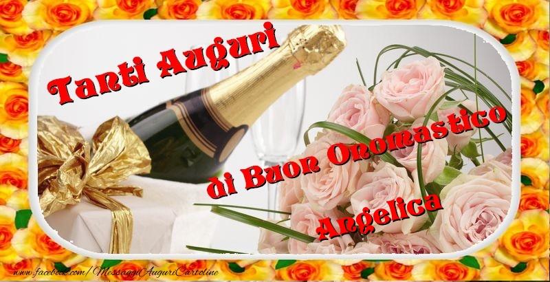 Buon onomastico, Angelica - Cartoline onomastico