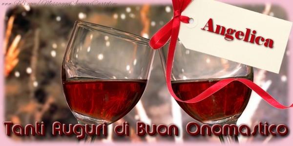 Tanti Auguri di Buon Onomastico Angelica - Cartoline onomastico