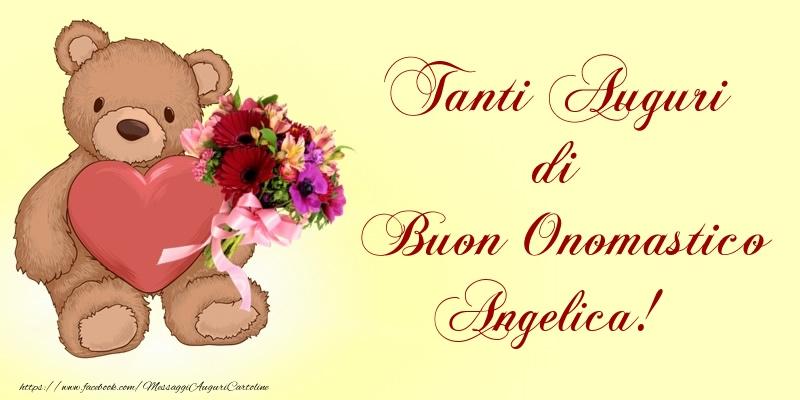 Tanti Auguri di Buon Onomastico Angelica! - Cartoline onomastico