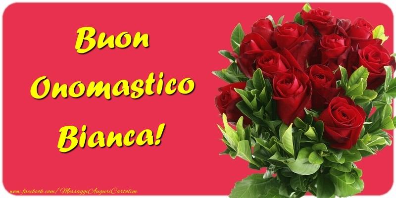 Buon Onomastico Bianca - Cartoline onomastico