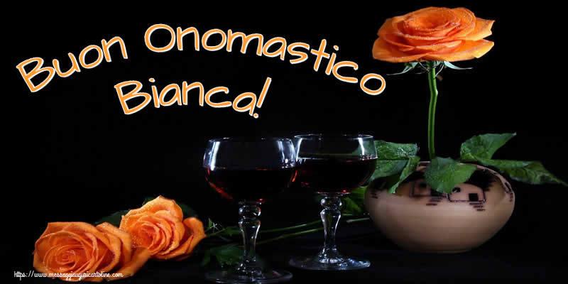 Buon Onomastico Bianca! - Cartoline onomastico