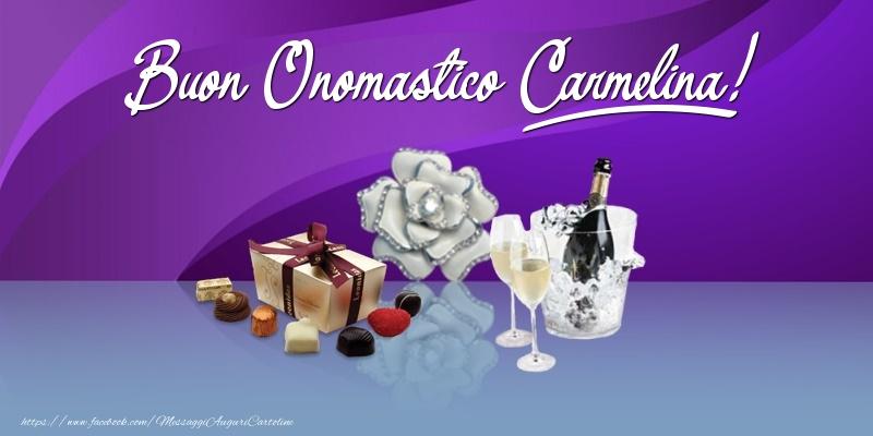 Buon Onomastico Carmelina! - Cartoline onomastico