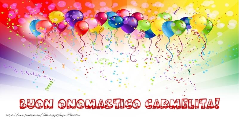 Buon Onomastico Carmelita! - Cartoline onomastico