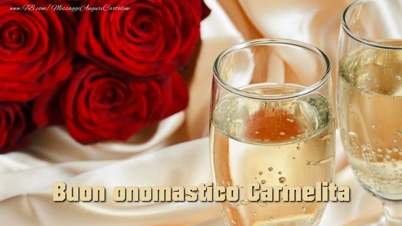 Buon onomastico Carmelita - Cartoline onomastico