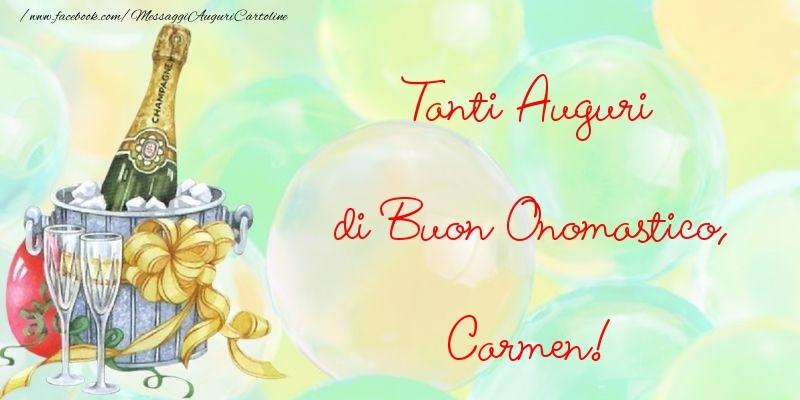 Tanti Auguri di Buon Onomastico, Carmen - Cartoline onomastico
