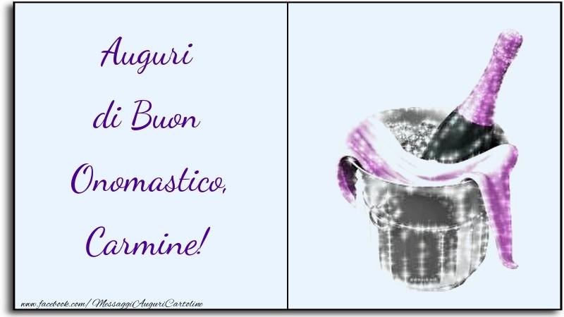 Auguri di Buon Onomastico, Carmine - Cartoline onomastico