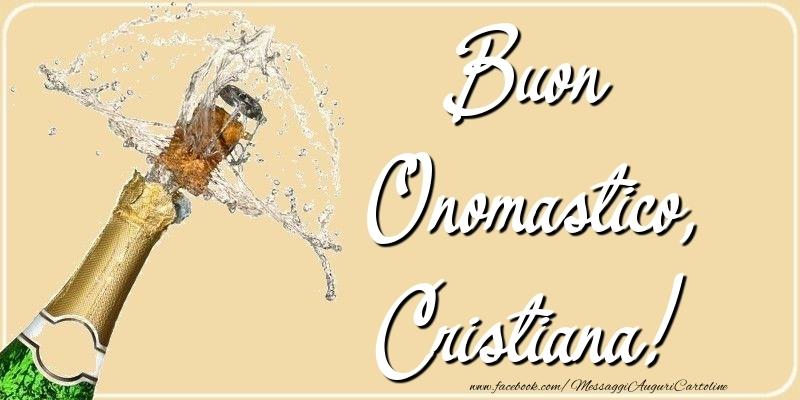 Buon Onomastico, Cristiana - Cartoline onomastico