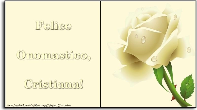 Felice Onomastico, Cristiana - Cartoline onomastico