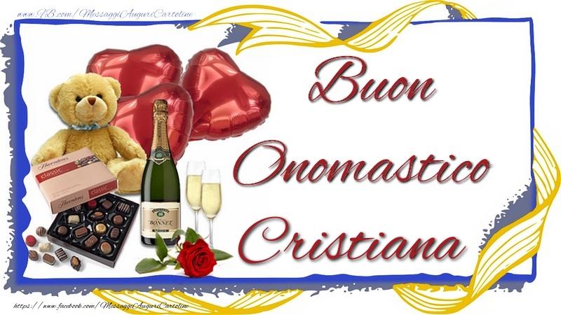 Buon Onomastico Cristiana - Cartoline onomastico