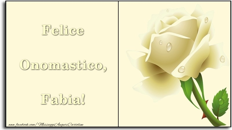 Felice Onomastico, Fabia - Cartoline onomastico