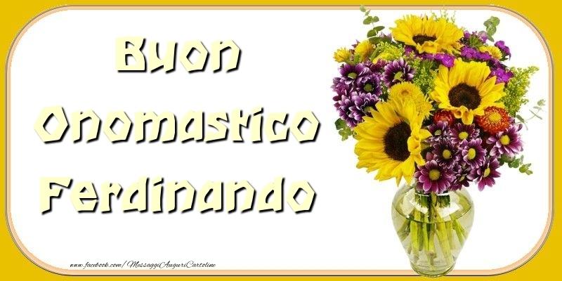 Buon Onomastico Ferdinando - Cartoline onomastico