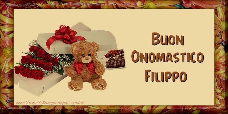 Buon Onomastico Filippo - Cartoline onomastico