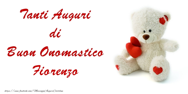Tanti Auguri di Buon Onomastico Fiorenzo - Cartoline onomastico