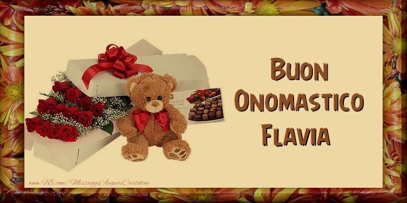 Buon Onomastico Flavia - Cartoline onomastico
