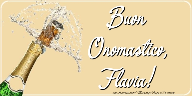 Buon Onomastico, Flavia - Cartoline onomastico