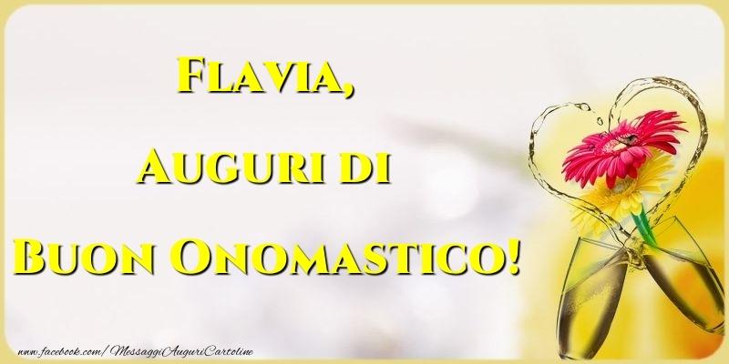 Auguri di Buon Onomastico! Flavia - Cartoline onomastico
