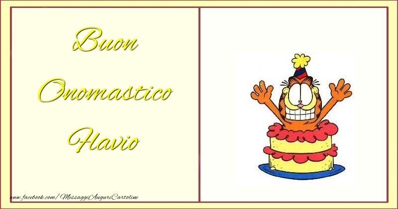 Buon Onomastico Flavio - Cartoline onomastico