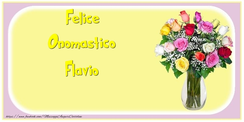Felice Onomastico Flavio - Cartoline onomastico