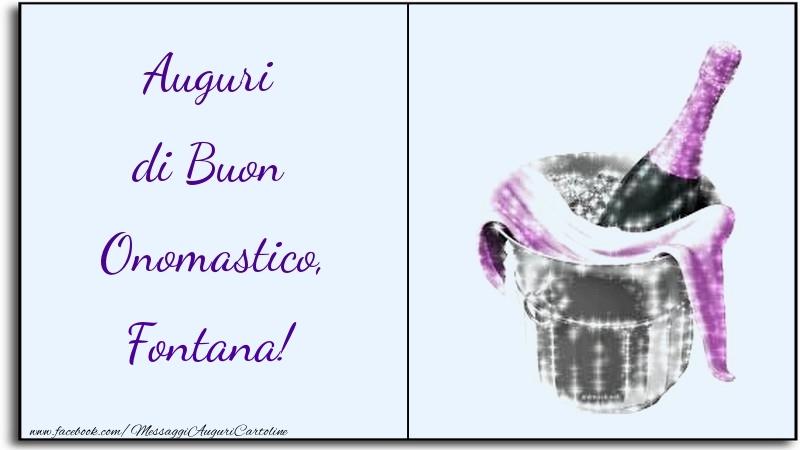 Auguri di Buon Onomastico, Fontana - Cartoline onomastico