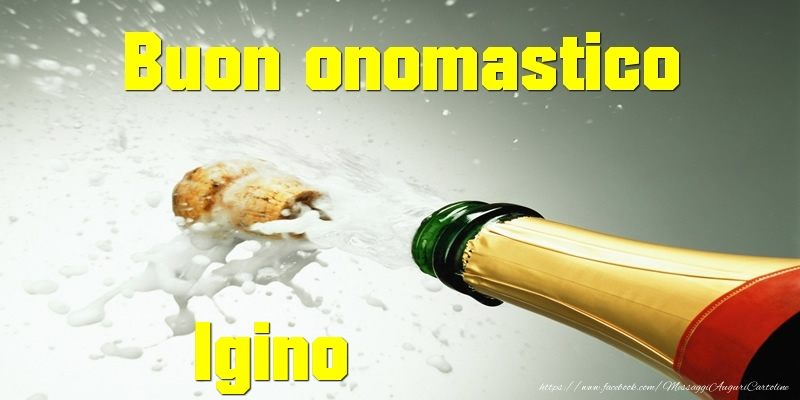 Buon onomastico Igino - Cartoline onomastico