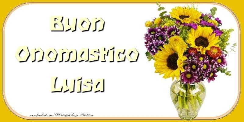 Buon Onomastico Luisa - Cartoline onomastico