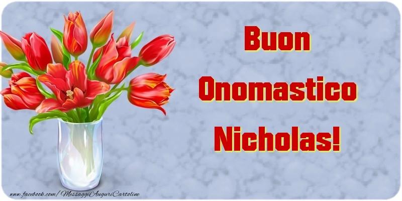 Buon Onomastico Nicholas - Cartoline onomastico