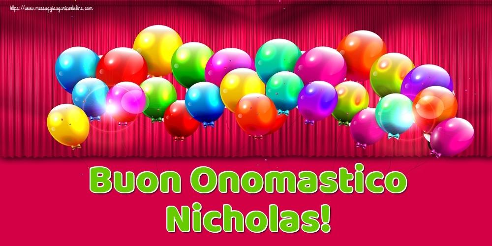 Buon Onomastico Nicholas! - Cartoline onomastico