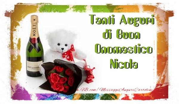 Tanti Auguri di Buon Onomastico Nicola - Cartoline onomastico