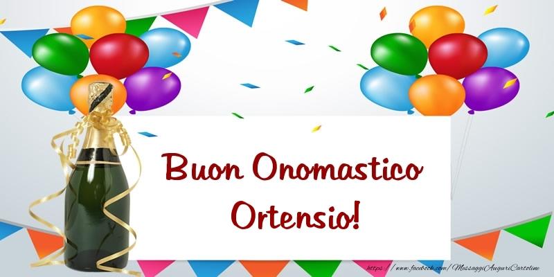 Buon Onomastico Ortensio! - Cartoline onomastico